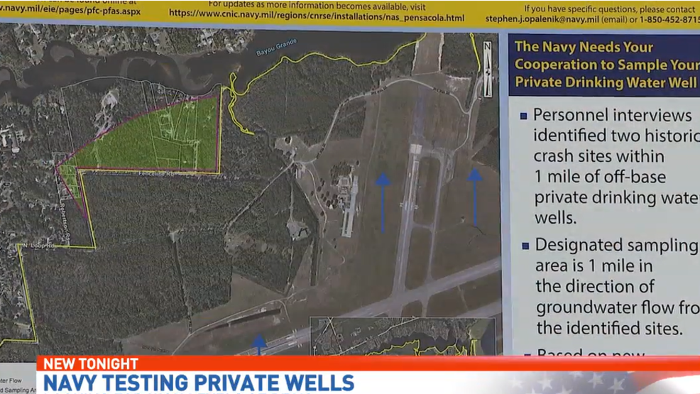 Navy testing private wells, looking for high levels of PFAS