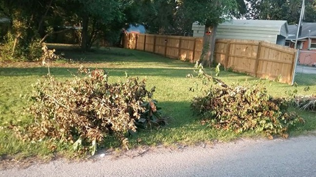 Escambia County collected more than 44 tons of debris from