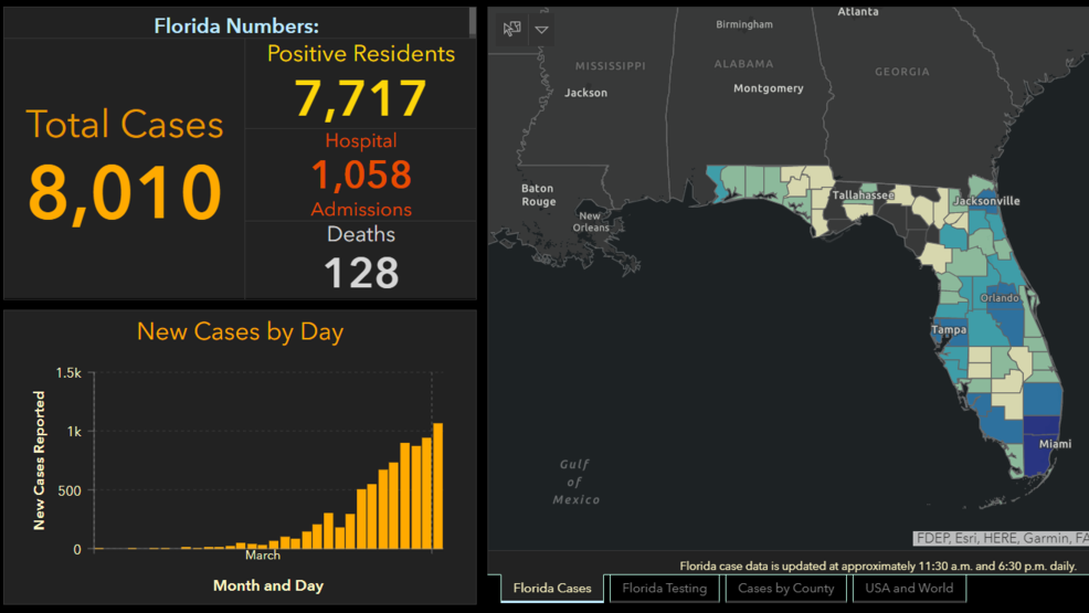 Florida coronavirus death toll jumps to 128 as state tops 8,000 ...