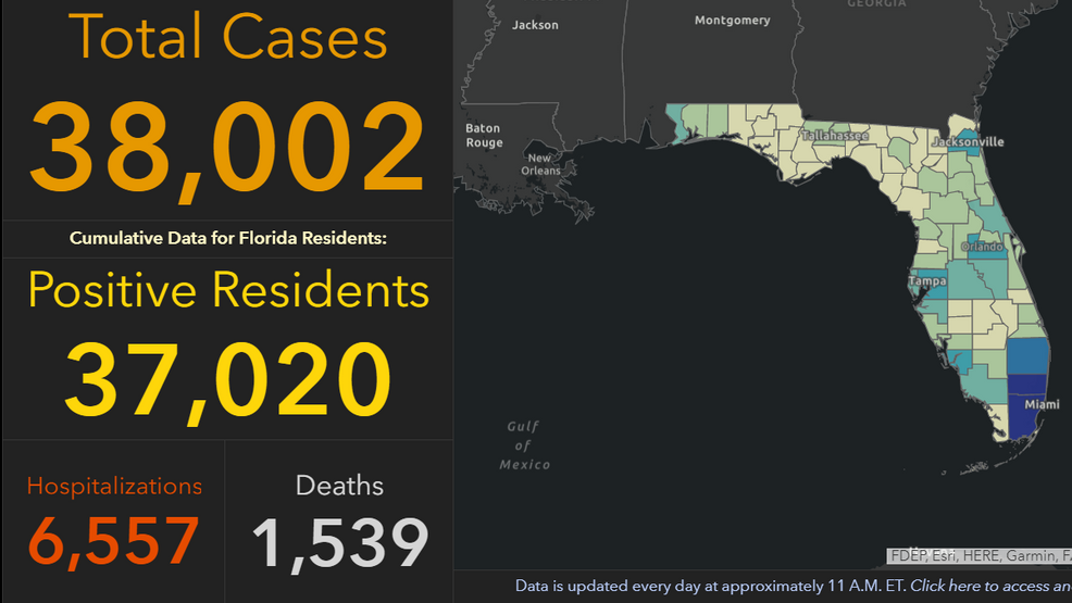 Florida tops 38K coronavirus cases, Escambia County records 15th ...