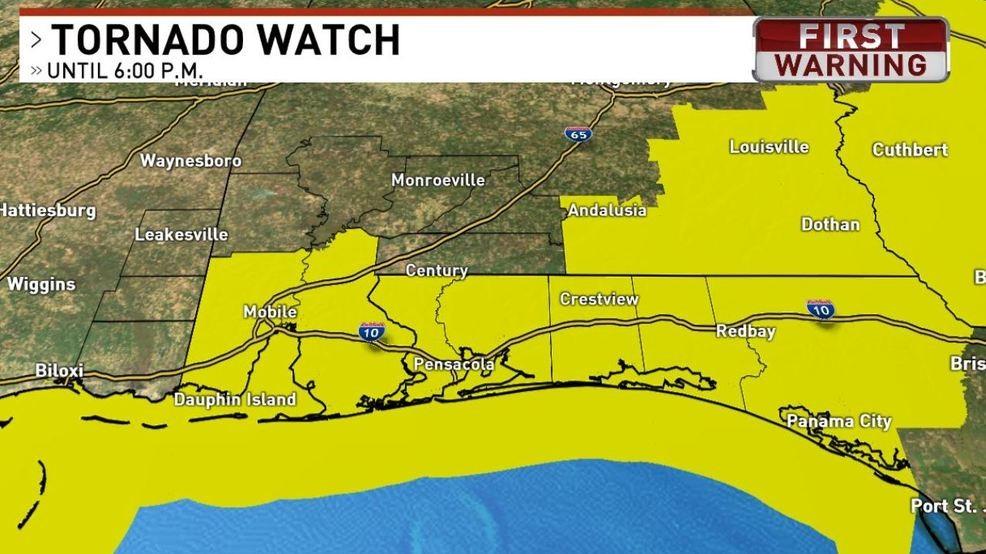 Weather Alert: Tornado Watch in effect   WEAR