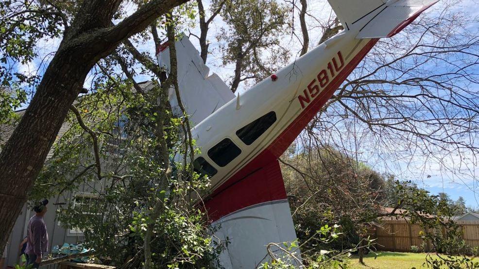 Image result for 2 men dog crash plane florida