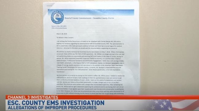 Department of Health investigating Escambia County EMS after ...