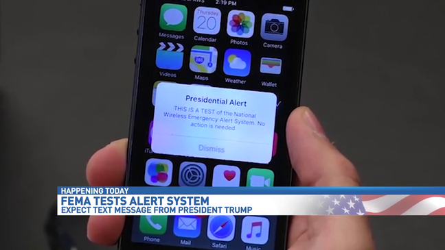 Emergency alert test scheduled nationwide to all mobile