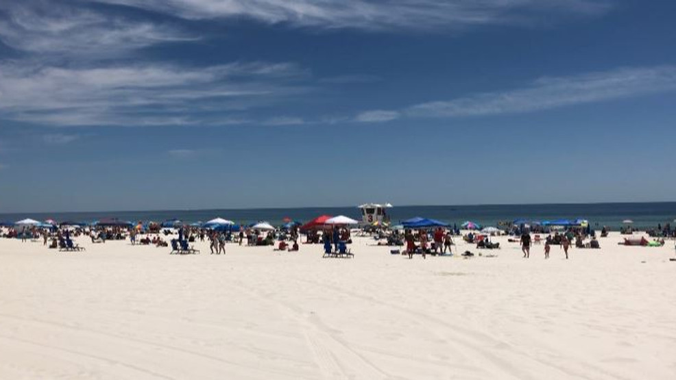 Pensacola Beach Packs With Visitors For